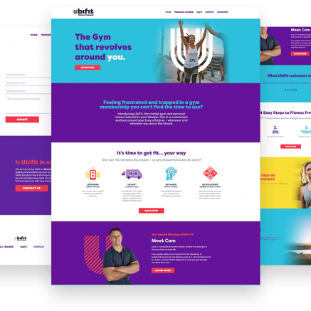 ubifit website design