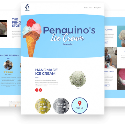 Penguino website development